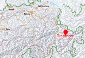 map of ski race camp Switzerland Rinerhorn Davos