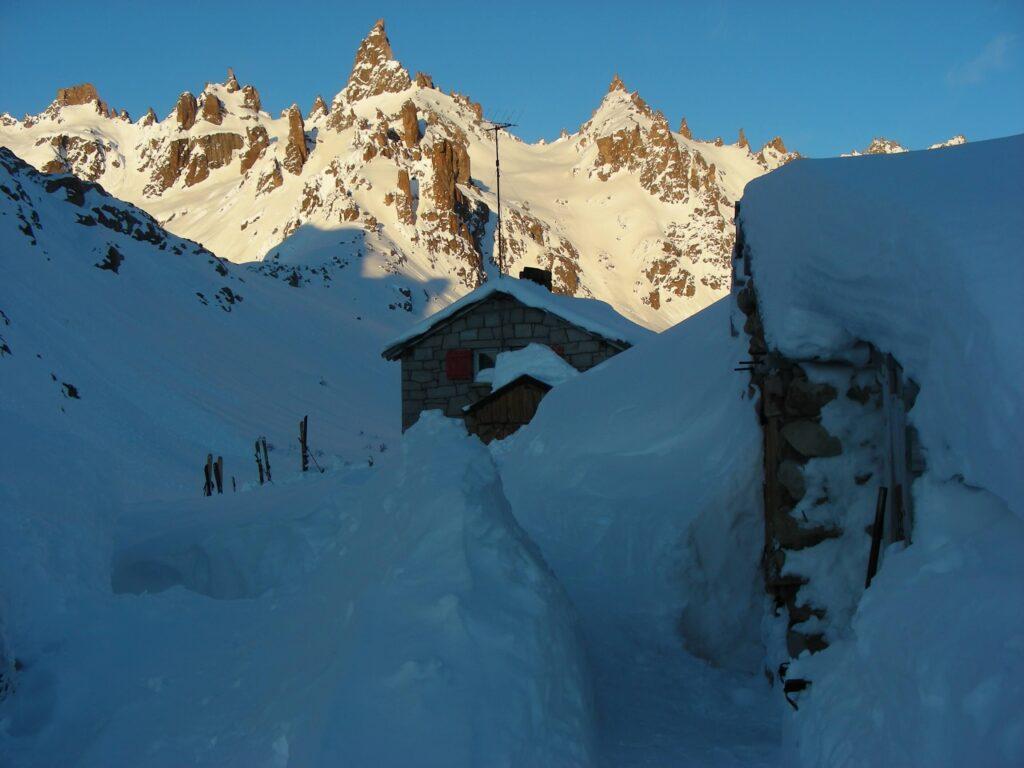 skiing Bariloche Refugio Frey