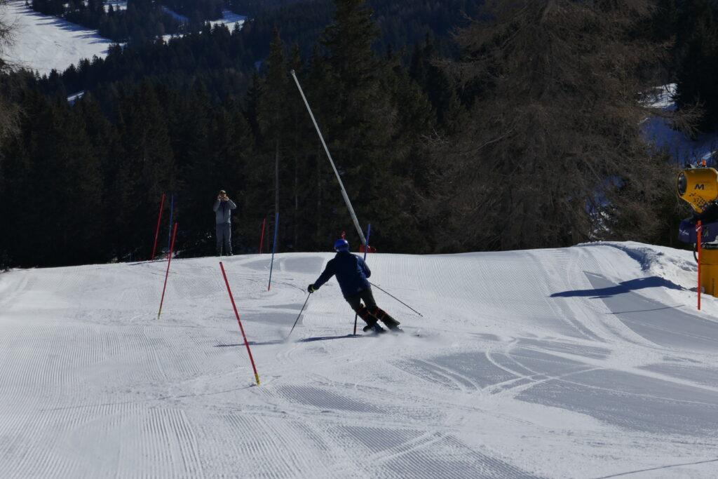 skirace camp Switzerland slalom training
