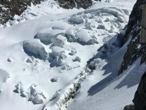 ski tour mont blanc glacier