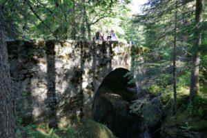 roman bridge on the way to col de la Balme