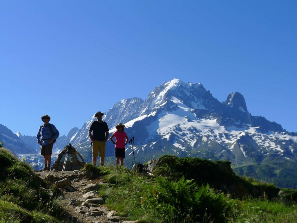 wandern auf der tour du mont blanc in chamonix