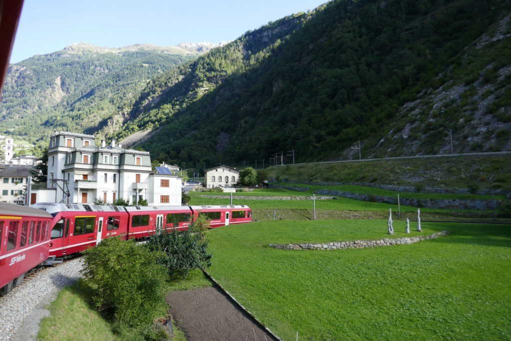 the world famous Bernini express train