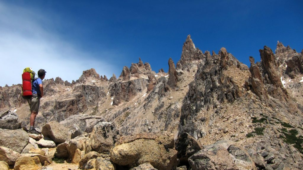 Hiking in Patagonia Bariloche Argentina up to Refugio Frey