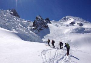 Gratis Ski fahren in Chamonix über Gletscher
