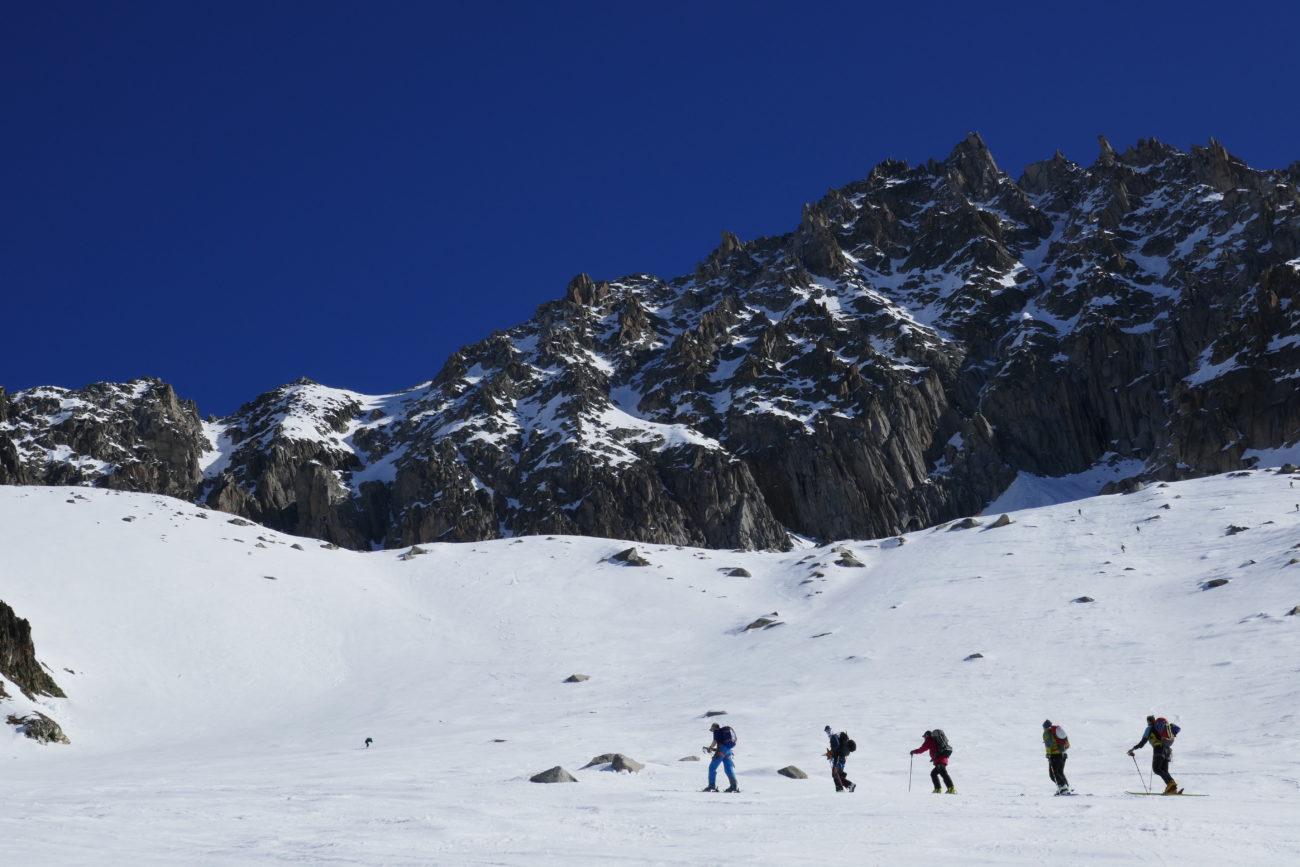 skitouring short break chamonix, skitouring chamonix, cold fusion skitouring camps,