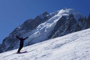 Gletscher Skifahren in Chamonix