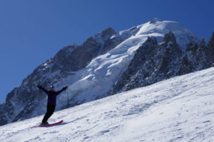 glacier skiing in chamonix