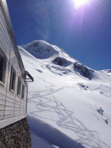 Grand Mulets Hütte wird für die Ski Tour Mont Blanc verwendet