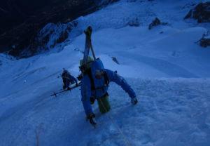Mont Blanc in Chamonix Klettern