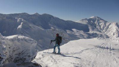 Skitouring to the top of Tokachidake mountain on Hokkaido a backcountry paradise
