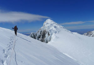almost at the top of cerro San Lorenzo in Patagonia