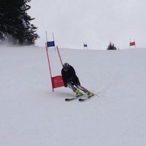 giant slalom training at the ski race camp switzerland