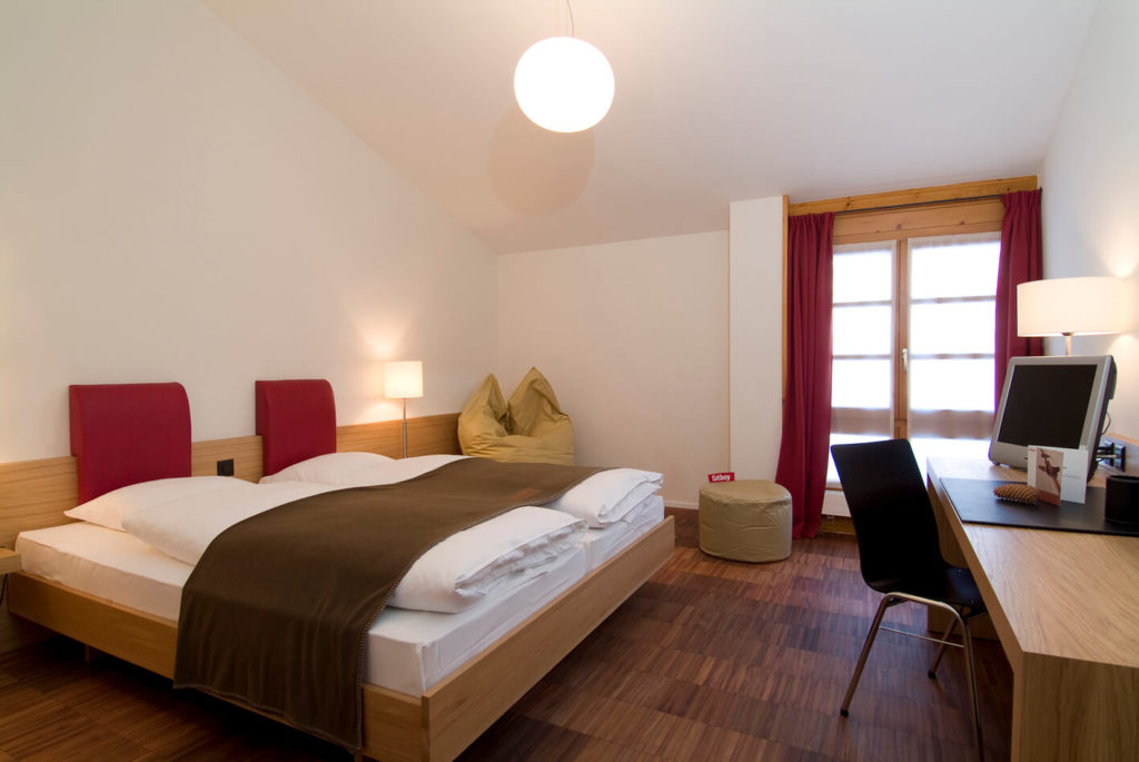 ski race camp switzerland bedroom