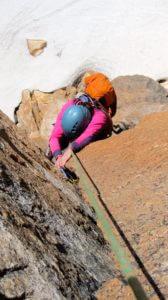 climbing at Refugio Frey in Bariloche