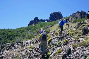 Hiking in Meliquina, Argentina cerro Ventana