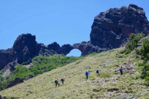 Wandern in meliquina, Patagonien
