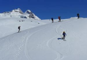 Skifahren am Cerro Tronador in Argentinien