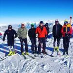 skiers from the ski race camp switzerland in lenzerheide