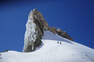 skitouring at cerro tronador almost at the top