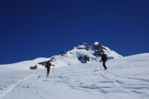 skiing down from cerro tronador in Bariloche