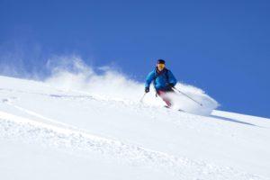 powder skiing in Kirgistan