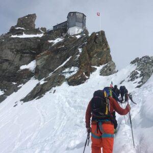 Cabane Bertol on the Chamonix to Zermatt Haute Route