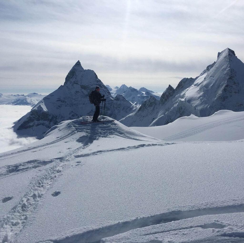 Skier infront of the Matterhorn