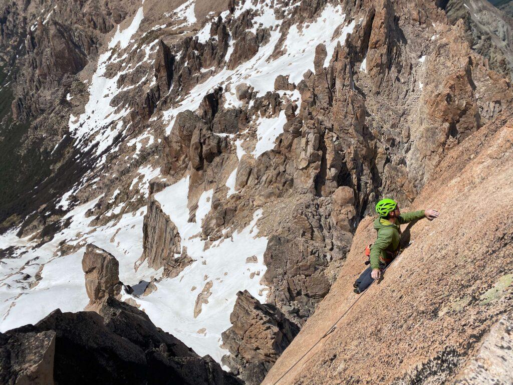 rock climbing at Refugio Frey in Bariloche