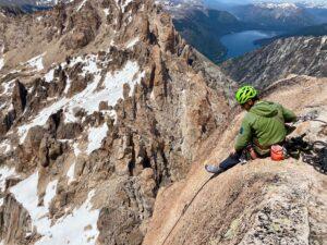 on top of Cerro principal at Refugio Lopez in Bariloche