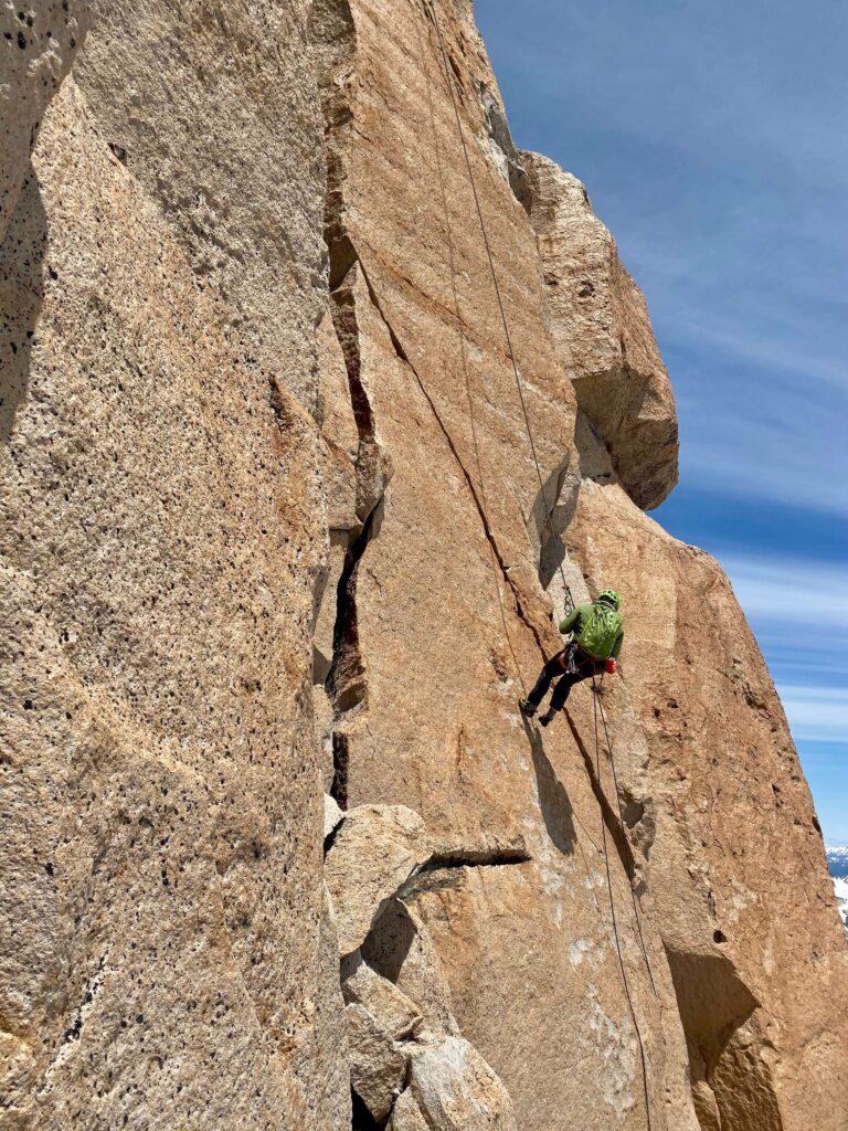 guided rock climbing at Refugio Frey in Bariloche