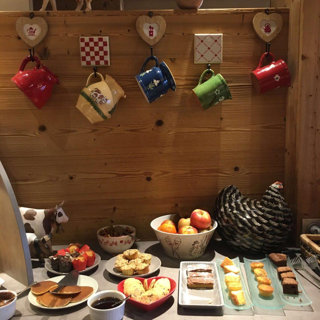 A healthy breakfast before skiing