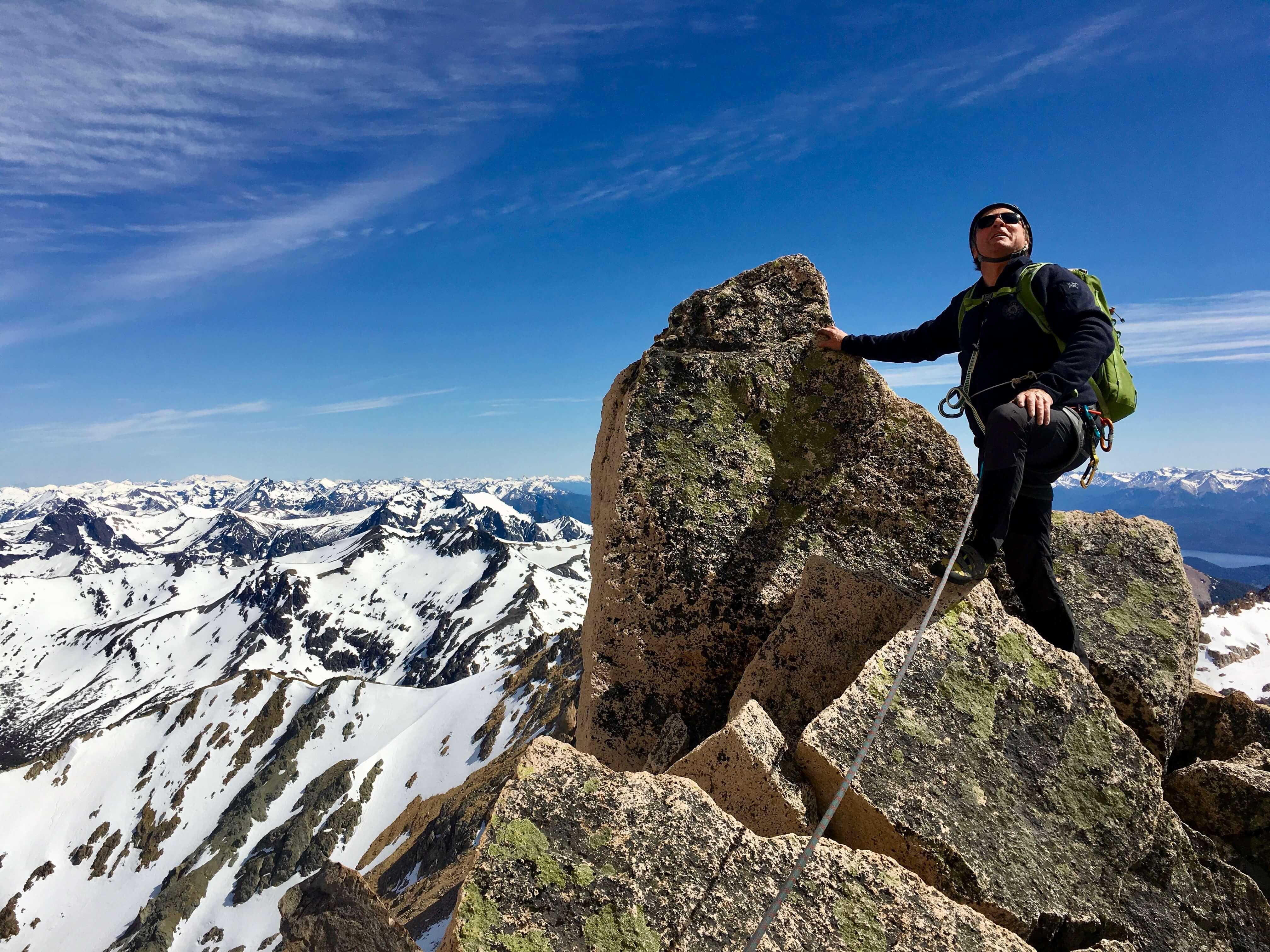 rock climbing Bariloche Argentina