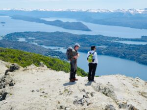view over the lakes in Bariloche