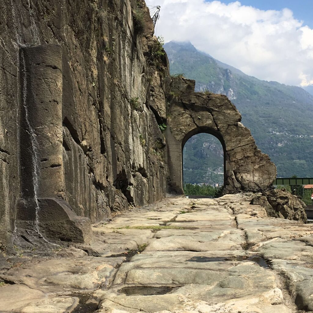 An old roman road near Donnas